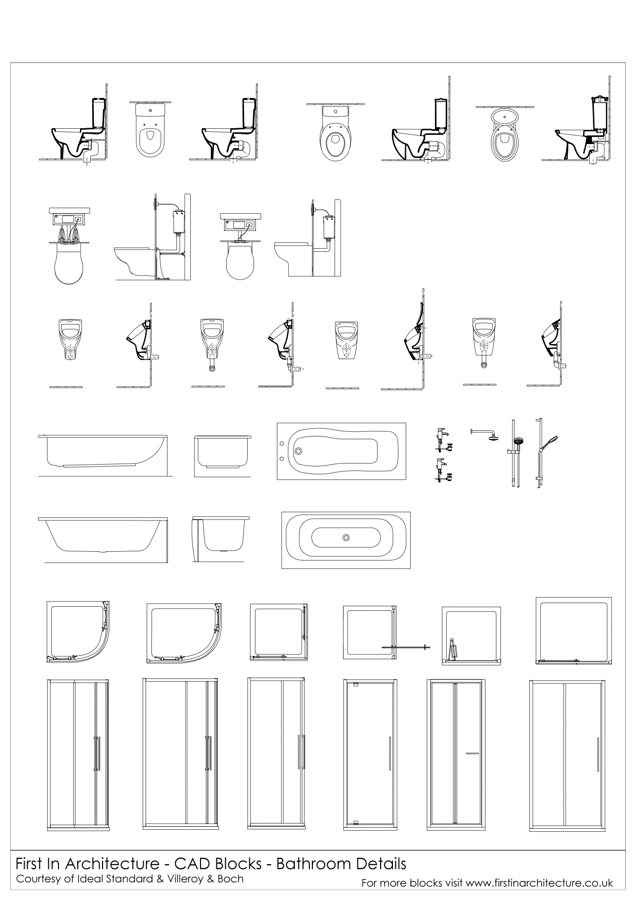 Free CAD Blocks Bathroom Details - Bathroom cad blocks