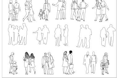 Free CAD Blocks – People in Groups