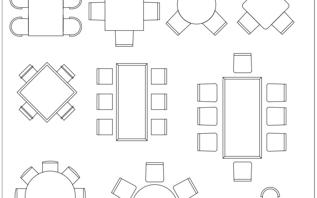 Free CAD Blocks – Dining Tables