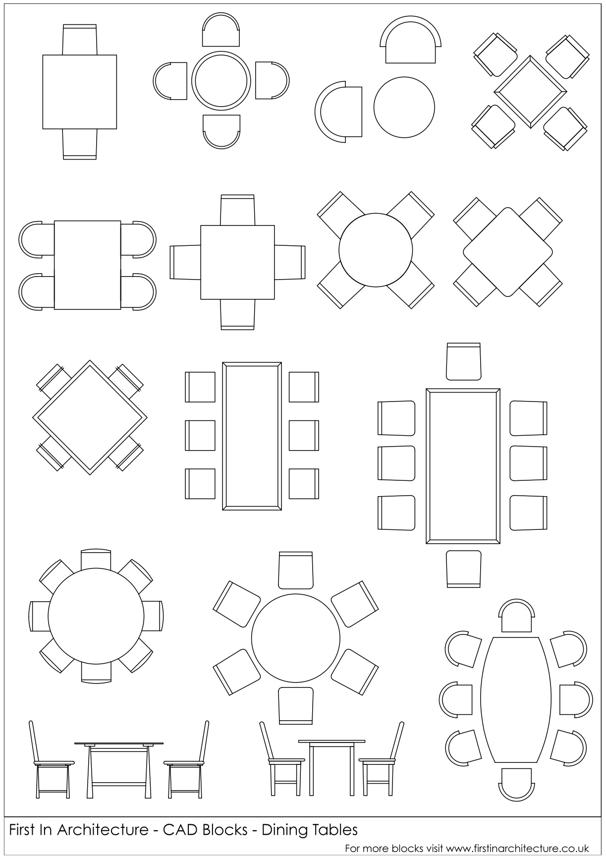 Free CAD Blocks Dining Tables - Conference table dwg
