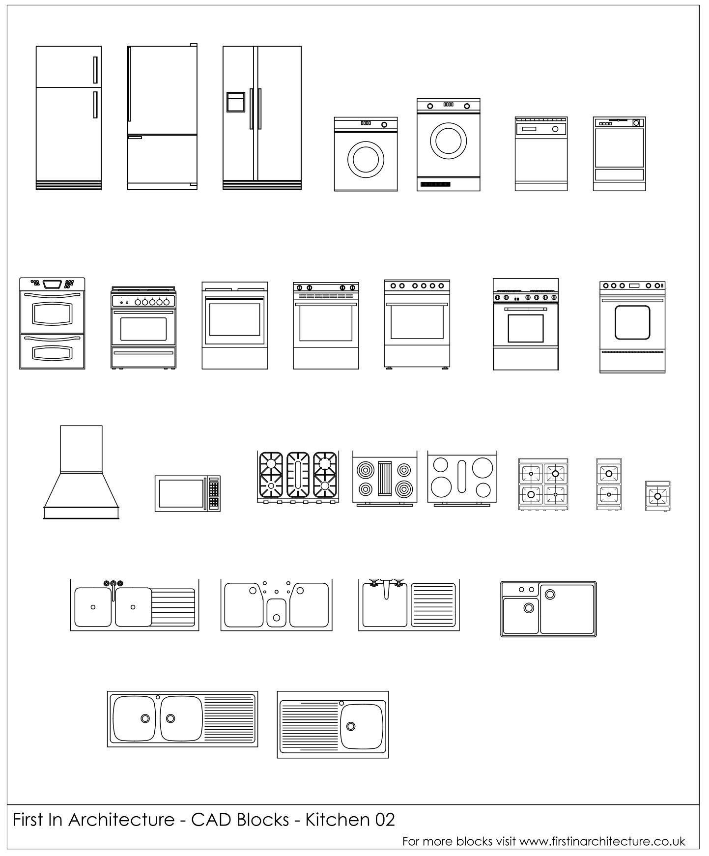 Free cad blocks kitchen appliances 02 first in architecture fia kitchen cad blocks 02 biocorpaavc Image collections