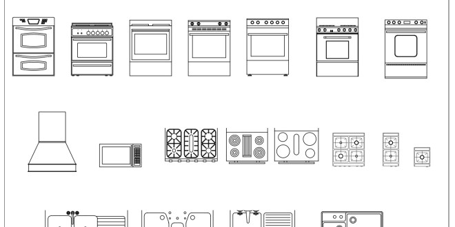 Free Cad Blocks Kitchen Appliances 02 First In Architecture