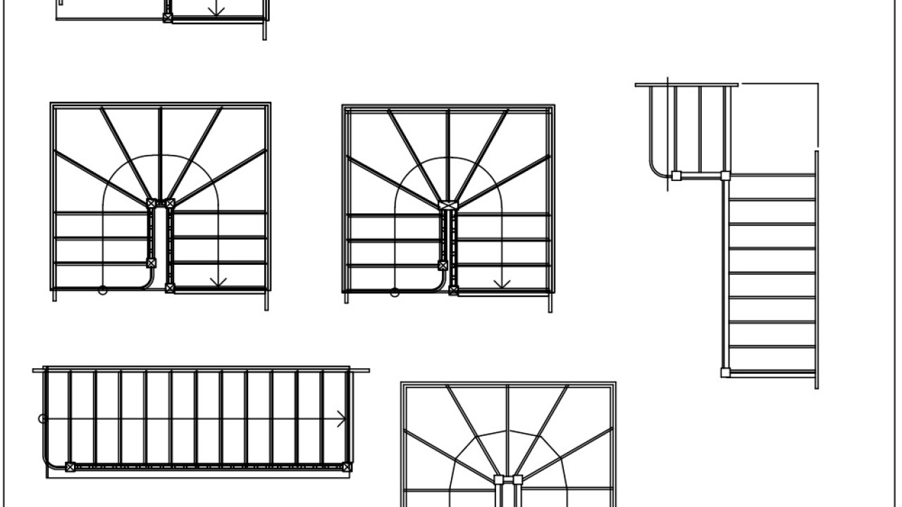 Free Cad Blocks Stairs 02 First In Architecture
