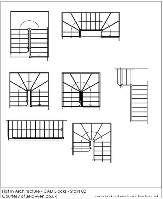 FIA CAD Blocks Stairs 02