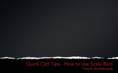 Quick CAD Tips – How to use Scale Bars in AutoCAD