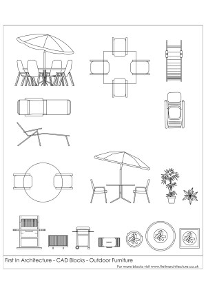 Free CAD Blocks  Outdoor Furniture