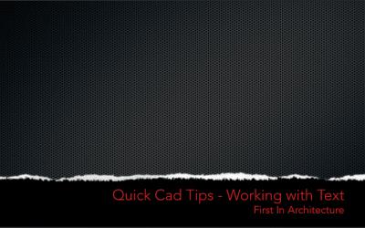Quick CAD Tips – Text