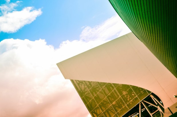 Abstract Angle Of Contemporary Achitecture With Colors