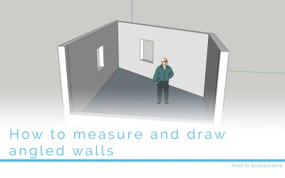 How to measure and draw angled walls