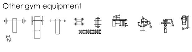 FIA CAD Blocks Sport gym equipment