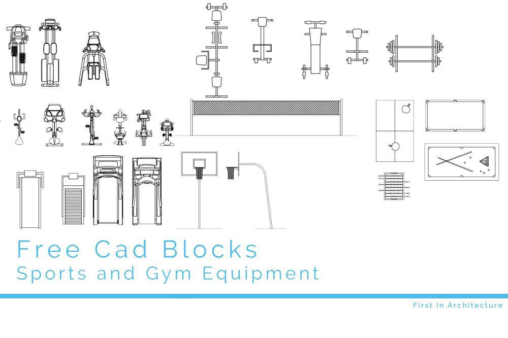 Free CAD Blocks – Sport and Gym Equipment