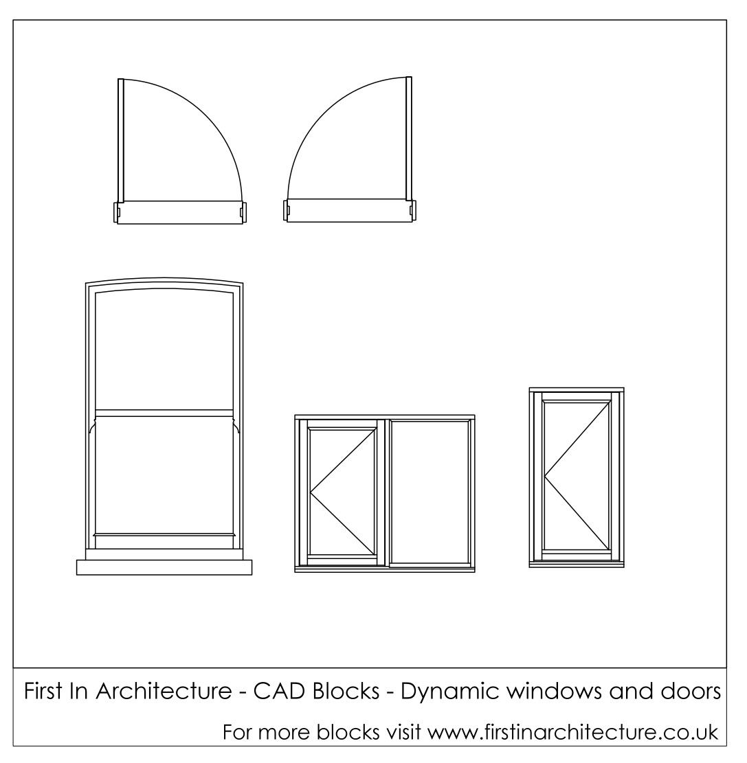 Fia Cad Blocks Dynamic Windows And Doors First In