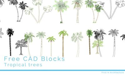 Free CAD Blocks – Trees 08