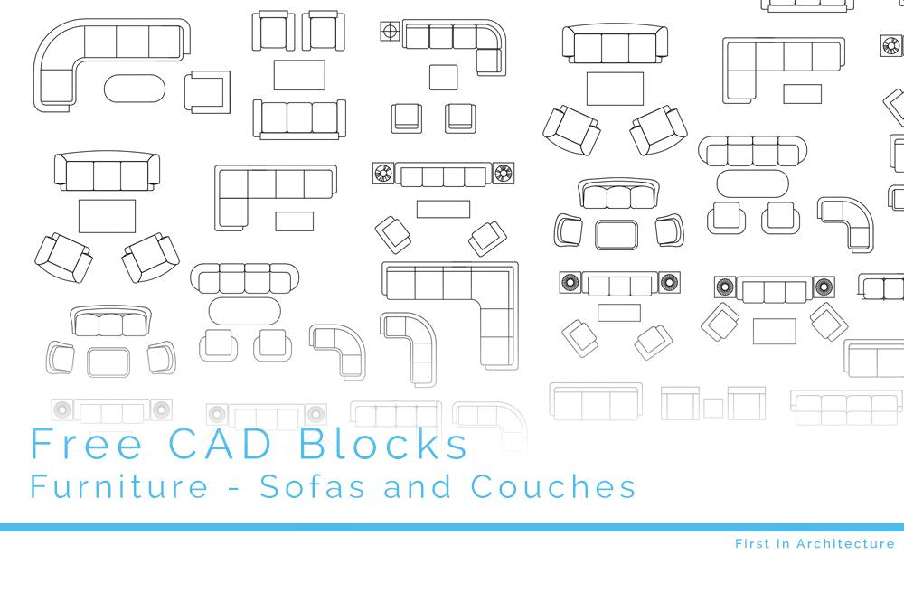 Free CAD Blocks – Furniture 08 – Sofas & Couches