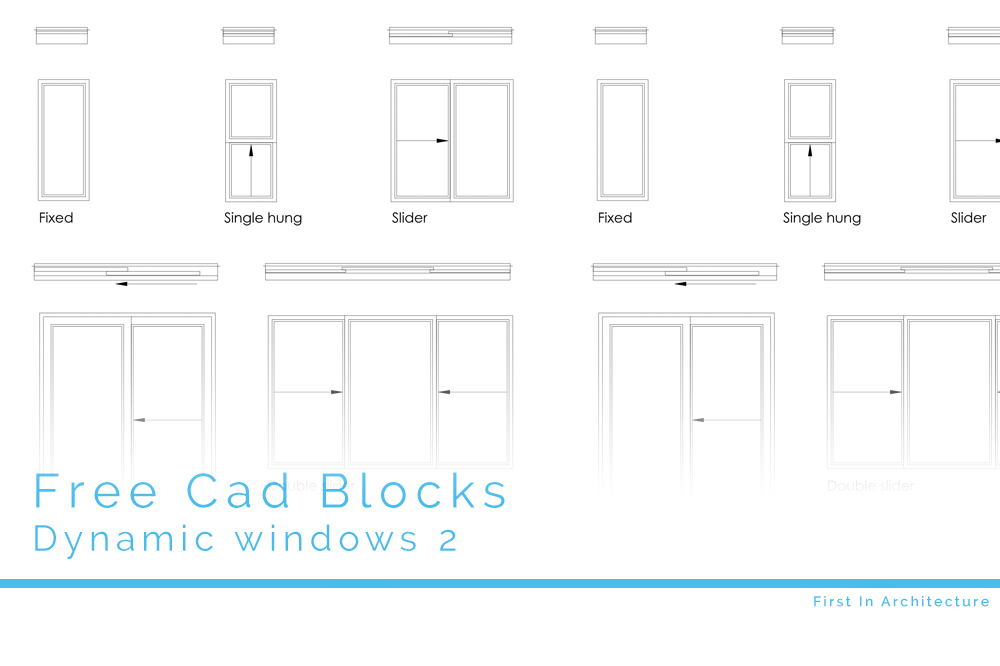 Free CAD Blocks – Dynamic Windows 2