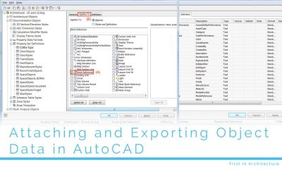 Attaching and Exporting Object Data in AutoCAD