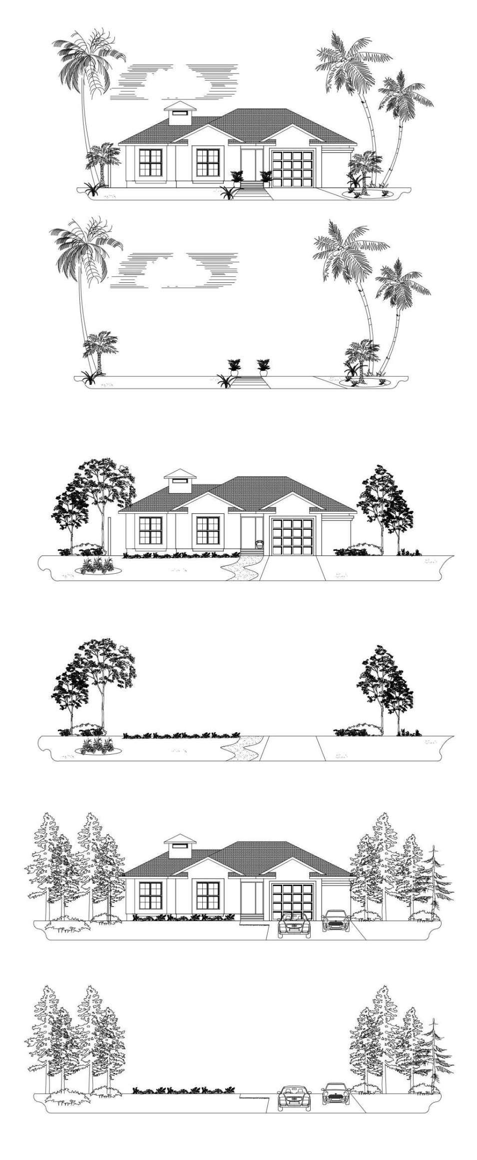 cad block elevations