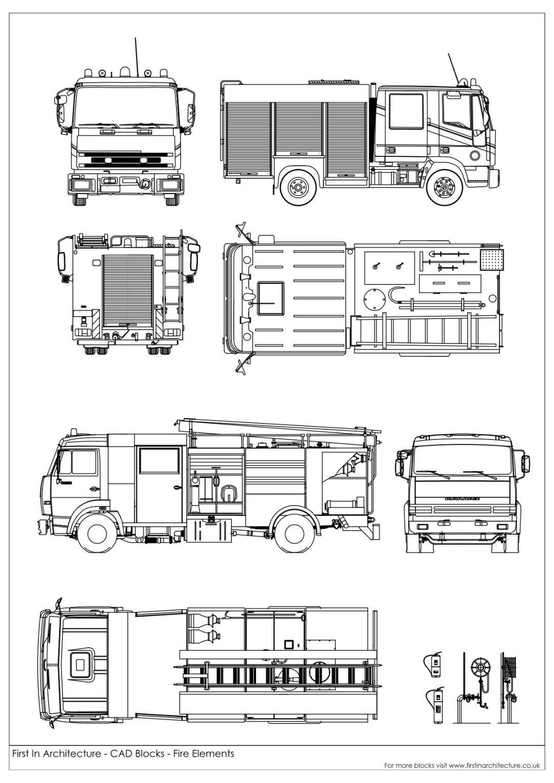Fire Elements cad blocks