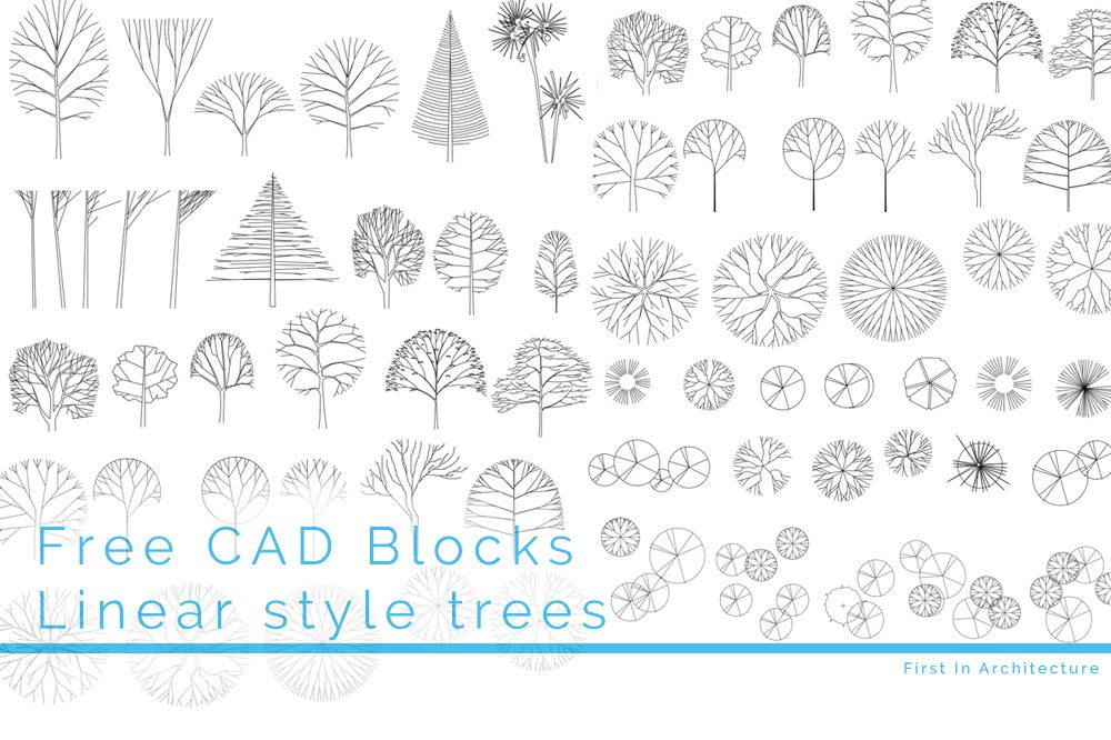 Free CAD Blocks – Trees 09