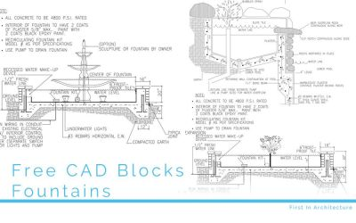 Free CAD Blocks – Fountains