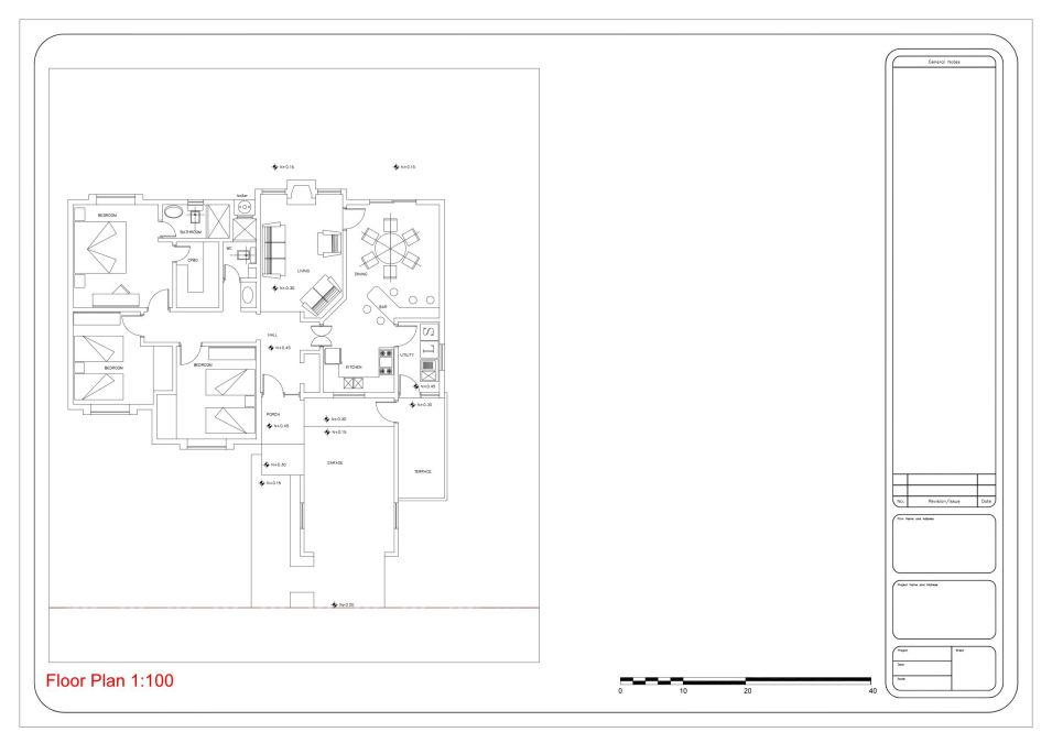 Scale plan drawing