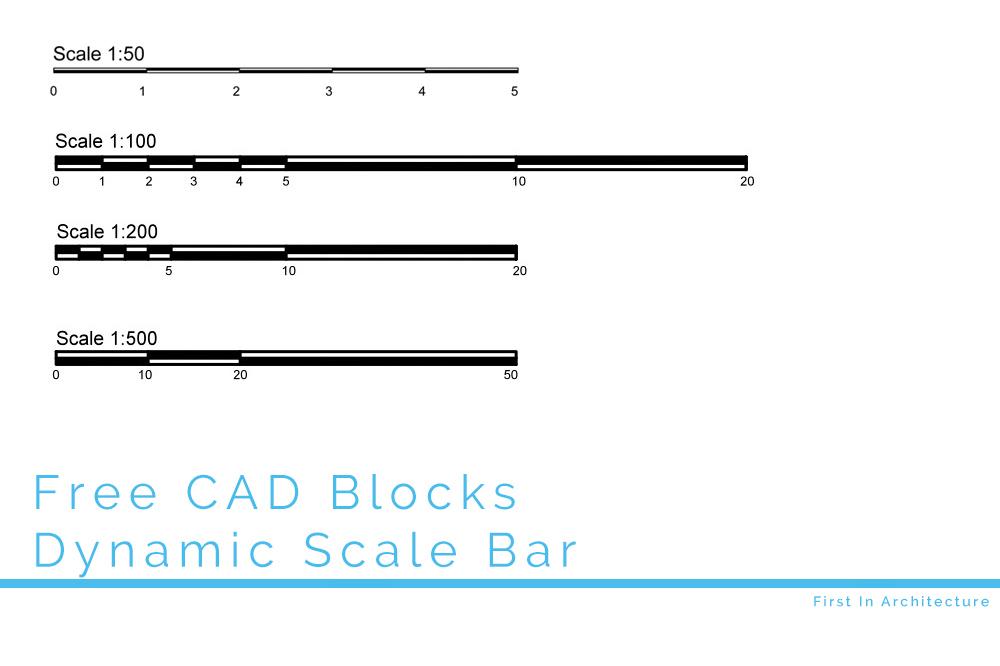FIA Free CAD Block – Dynamic Scale Bar