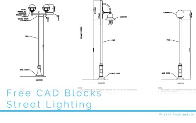 Free CAD Blocks – Street Lighting