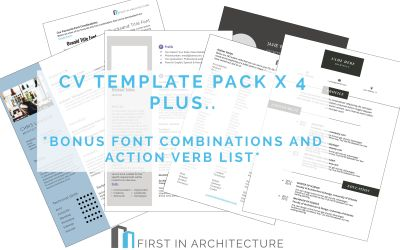 Architecture CV Template Pack