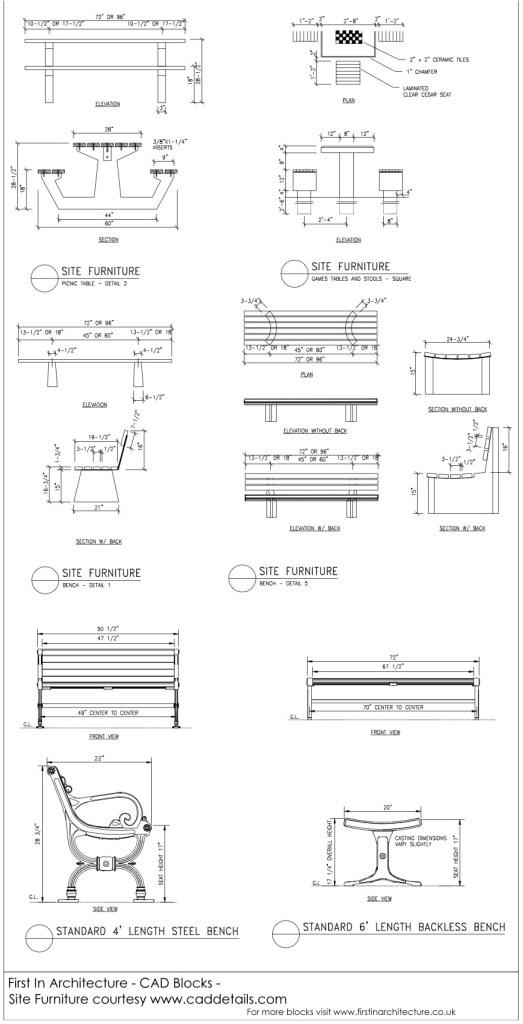 CAD Blocks Site Furniture