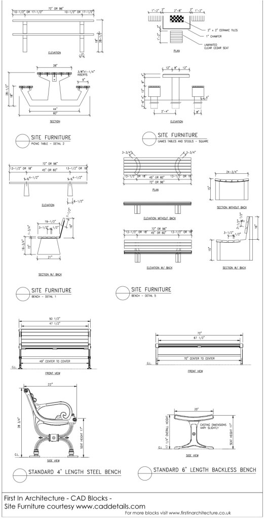 CAD Blocks Site Furniture