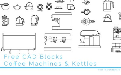 Free CAD Blocks – Coffee Machines Kettles and Tea