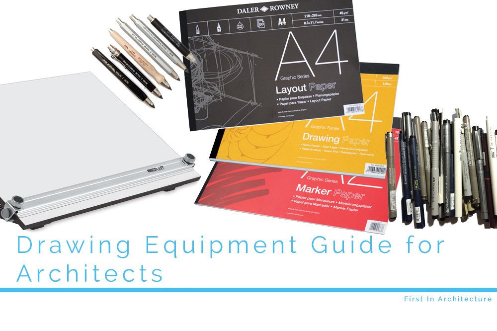 Drawing equipment for architects and students