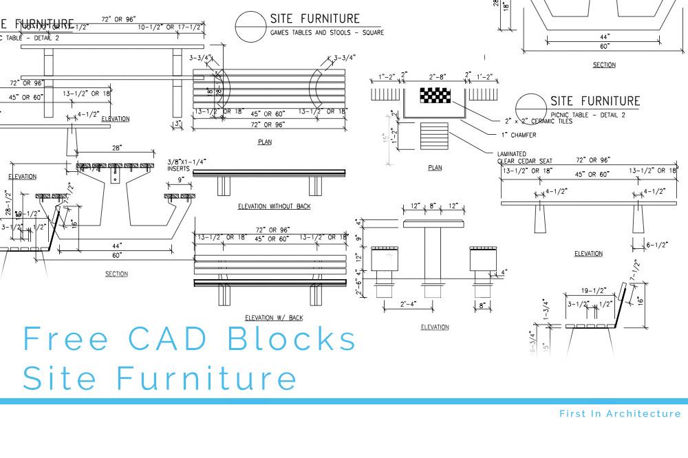 Free CAD Blocks – Site Furniture