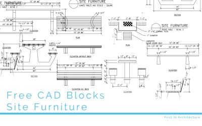 Free CAD Blocks – Site Furniture