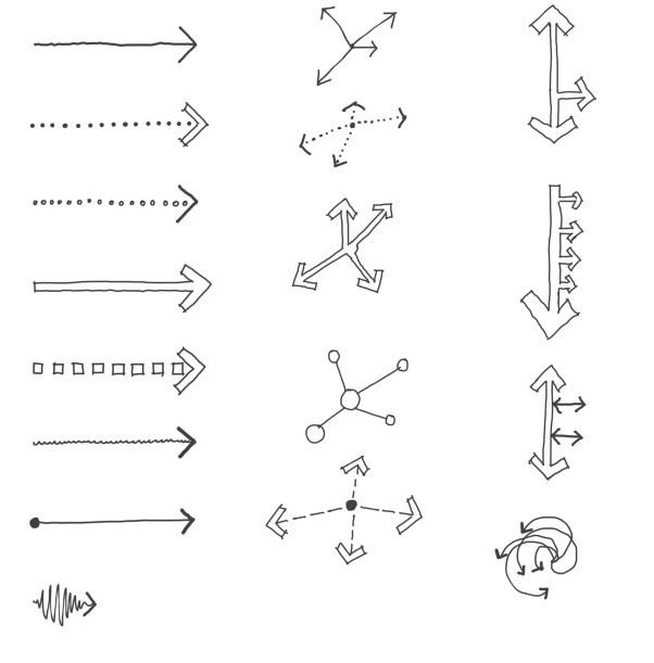 Site analysis arrow diagrams