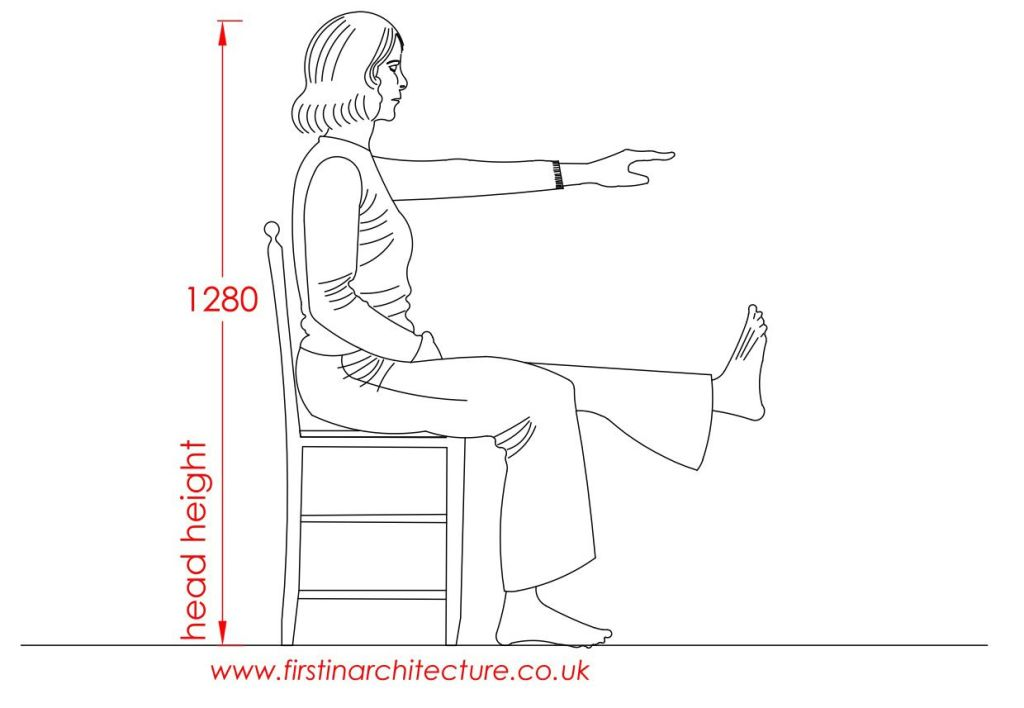 01 Head height of woman sitting