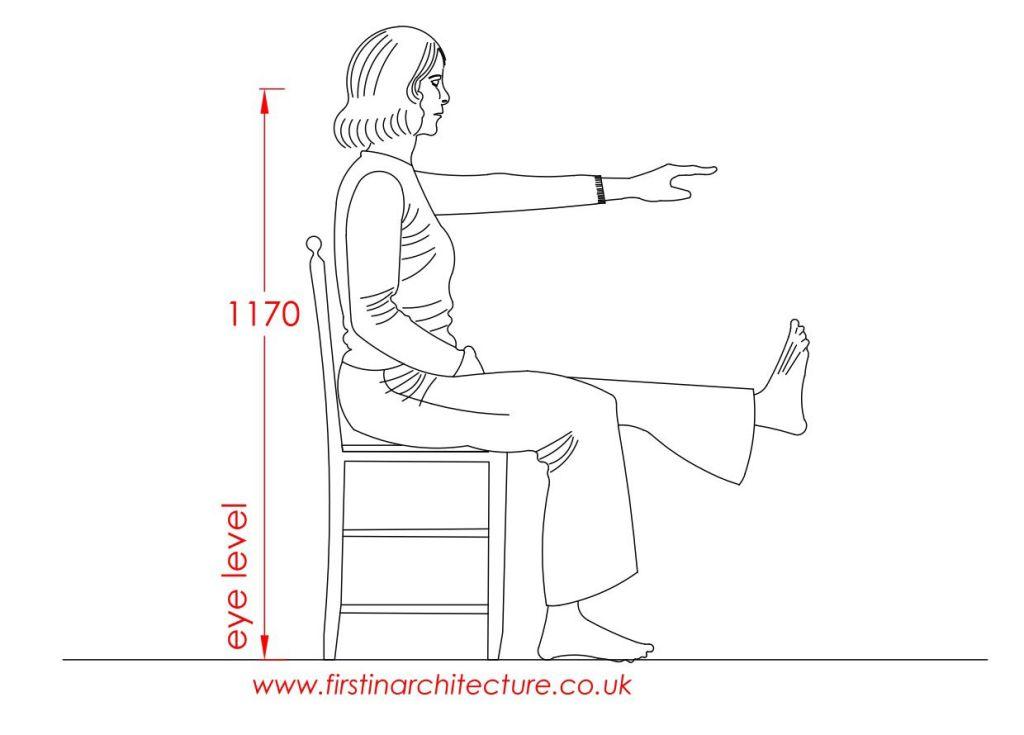02 Eye level of woman sitting