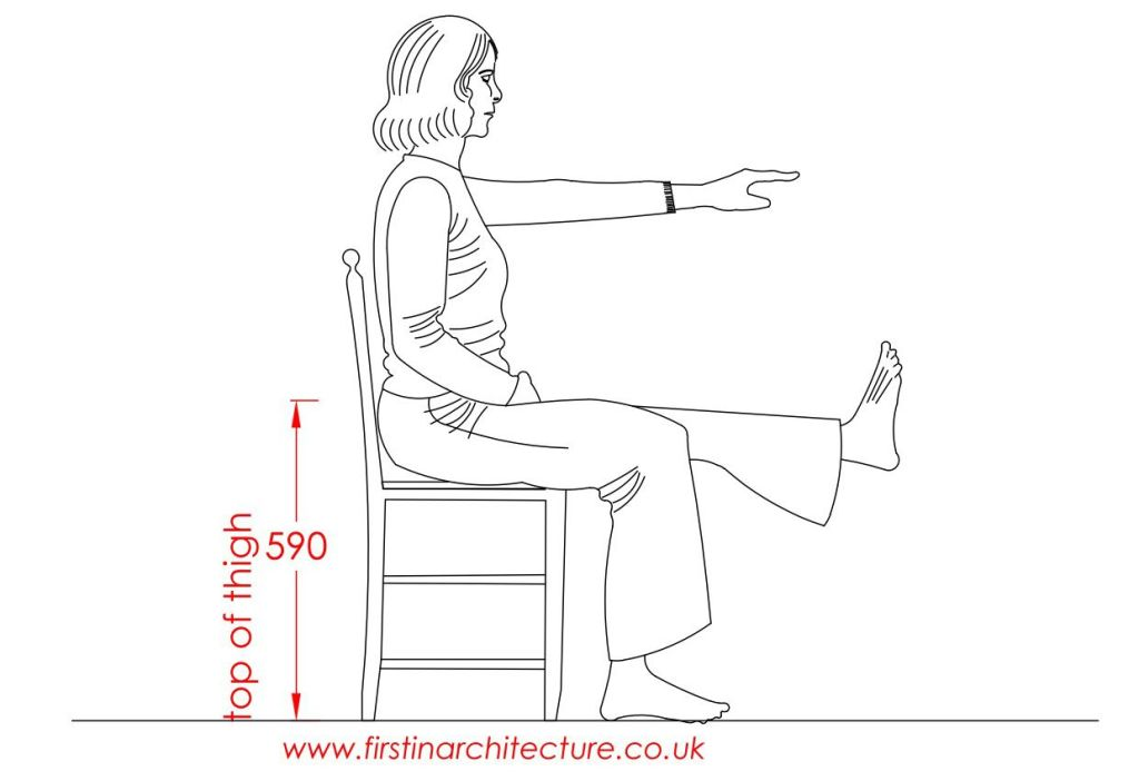 04 Thigh height of woman sitting