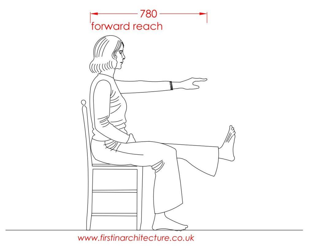 06 Forward reach of woman sitting