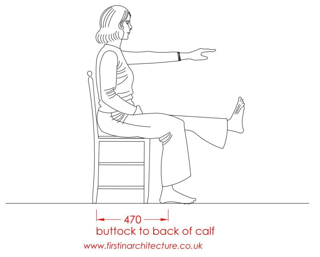 07 Buttock to calf woman sitting
