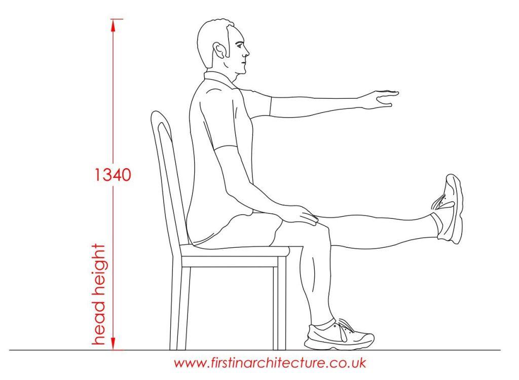 11 Head height of man sitting