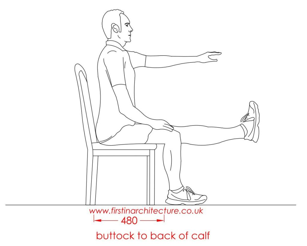 17 Buttock to calf man sitting