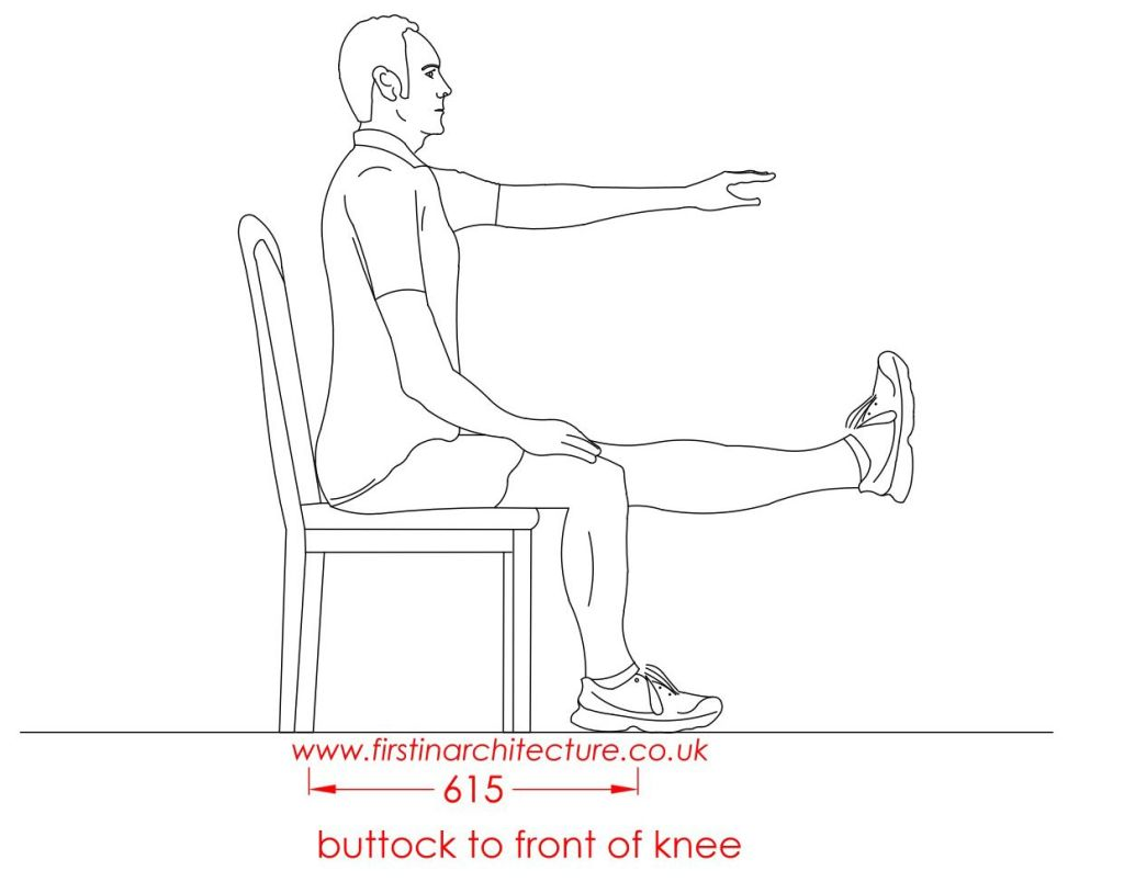 18 Buttock to knee man sitting