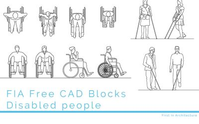Free CAD Blocks – Disabled people