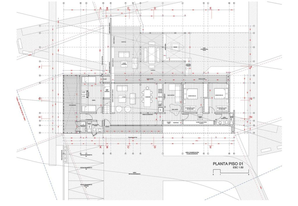 Construction drawing floor plan