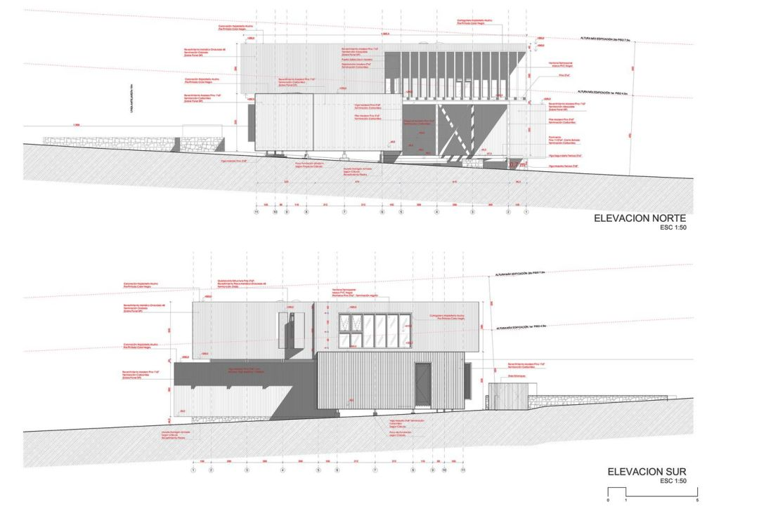 Elevation Construction drawing