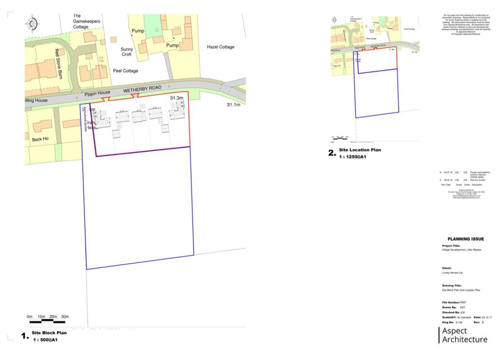 Site location and block plan exmaple 04