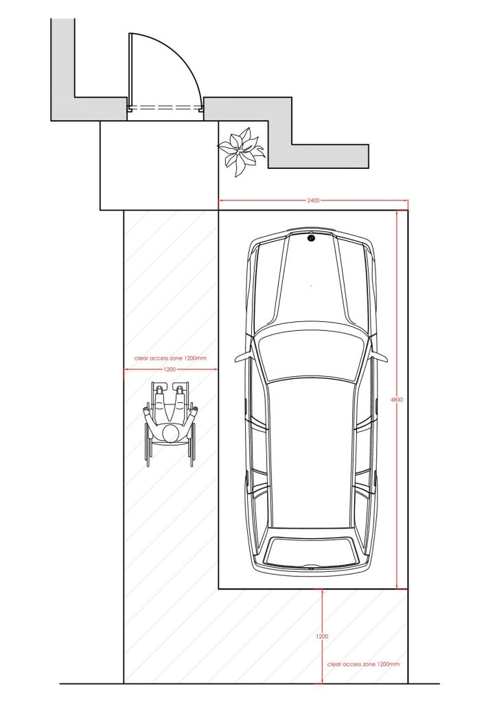03 Parking requirement for wheelchair accessible dwelling