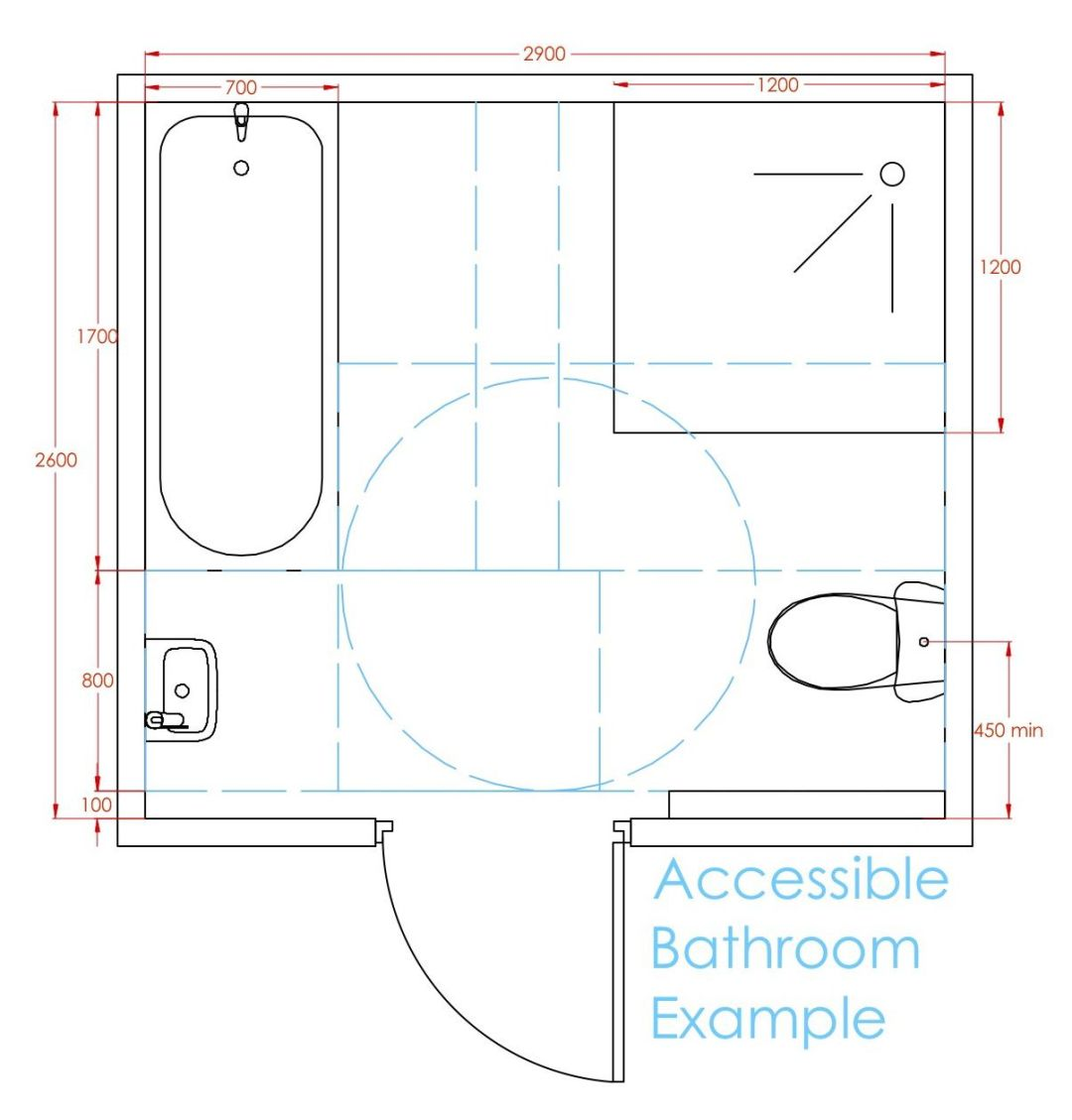 Accessible bathroom example