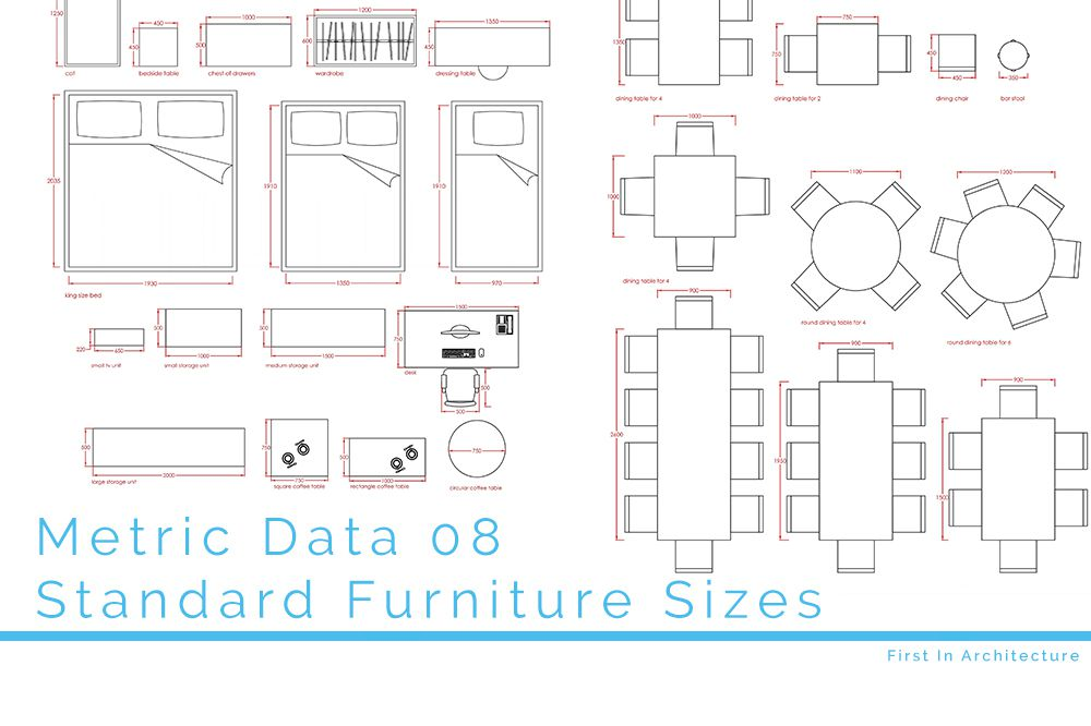Metric Data 08 Standard Furniture Sizes First In Architecture